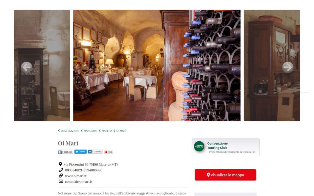 Sezione sul sito del Touring Club Italiano dedicata a Oi Marì